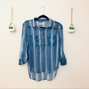 HOLLISTER Stripped Button Down Top